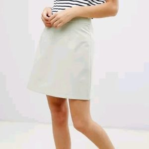 ASOS Design tailored a-line mini skirt - pistachio